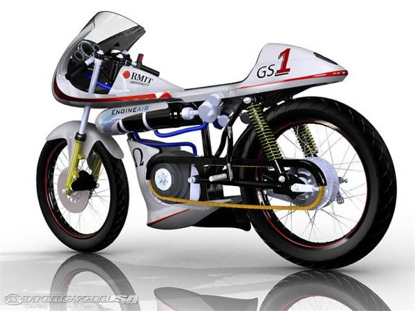 Motocicleta con Motor de Aire Comprimido